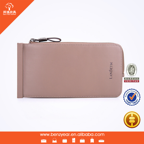 New Arrival Original Design Many Name Card Sets Genuine Leather Men Style Lips Clutch Bag