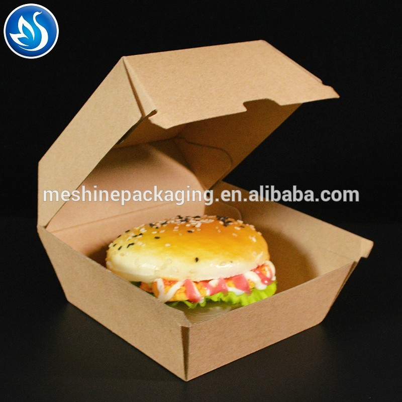 6 inch/8 inch /12 inch  Custom cardboard paper hamburger packaging burger box
