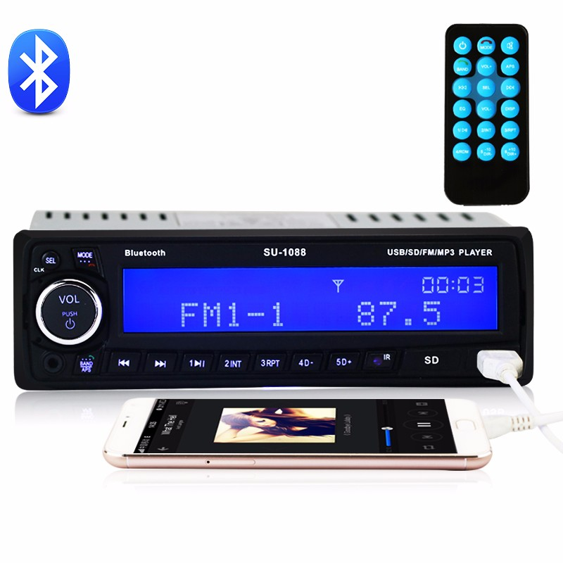 Universal car stereo car Bluetooth MP3 WMA Audio Music Player Bluetooth Stereo Radio Support TF Card USB Flash Playing Music