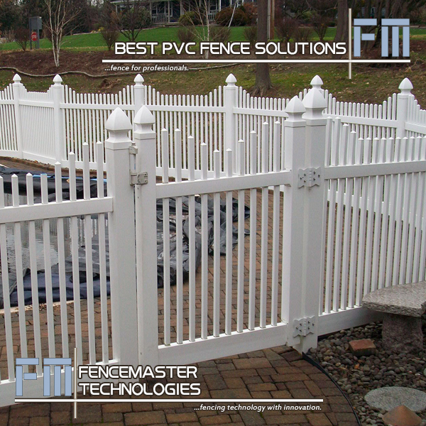 Vinyl Stepped Square Picket Fence Panels From China Pvc