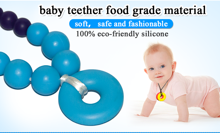 Safety Silicone Elephant/Owl/Palm/Flower/Fruit Teething Pendant for Baby