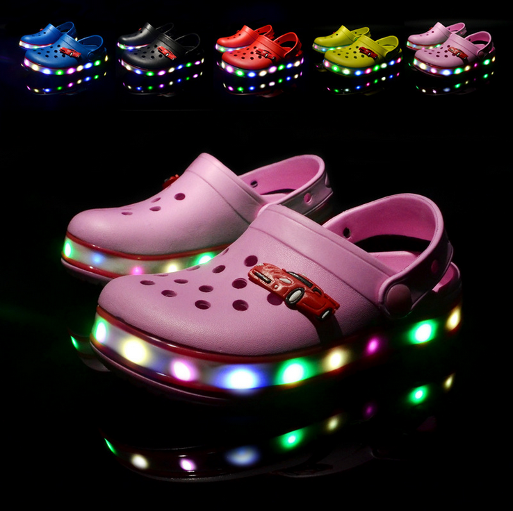 light up kids shoes,flashing LED slippers,new design kids led <strong>sandals</strong>