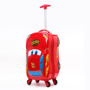 Boy Car Shape Rolling Luggage Kids Hard Shell Single Trolley Hard ...