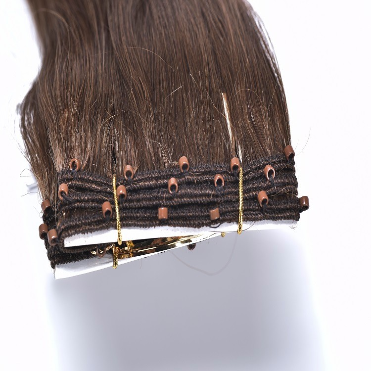 26 inch aluminum micro beads weft remy for human hair extensions