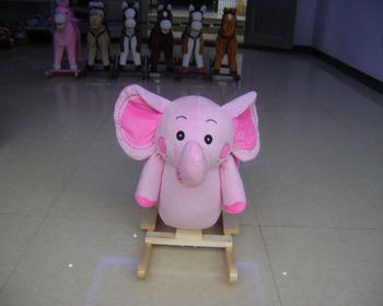 Sedie A Dondolo In Legno Per Bambini : Personalizzati di alta qualità carino rosa elefante peluche sedia