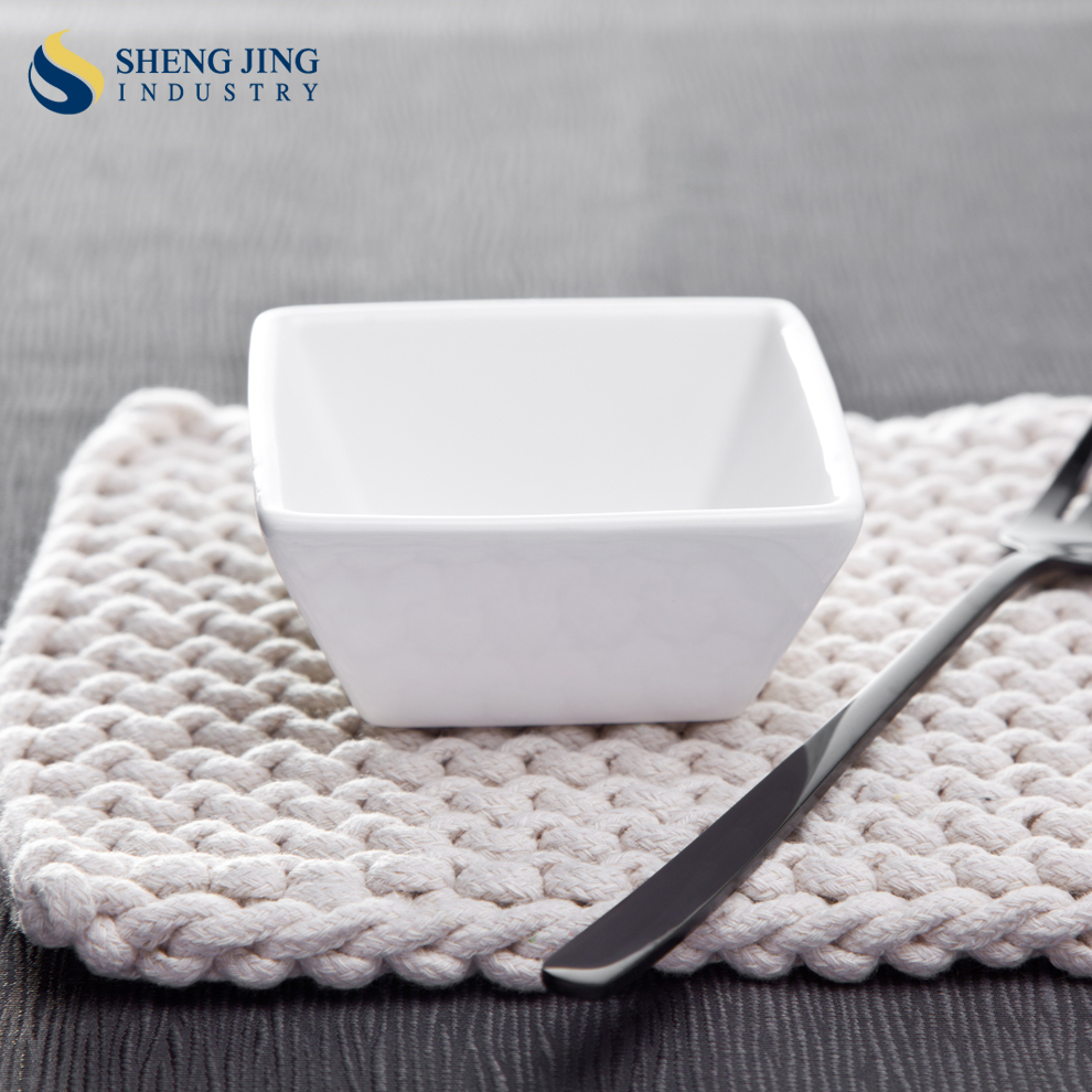 "100cc Square Vinegar <strong>Plate</strong>/ 3.25"" Ceramic Bowl/ 100ml Japanese Soy Sauce Dish"