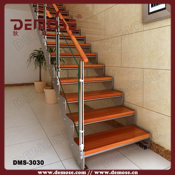 Al aire libre de madera decorativos de vidrio pasos for Escalera de madera al aire libre precio