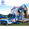 Basketball inflatables bouncer house slam dunk jumping bouncy castle for kids