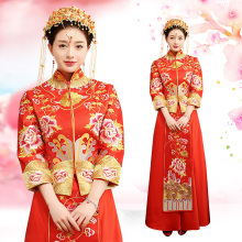 Wholesale Bride Use and OEM Service Supply Type buy china traditional red wedding dress