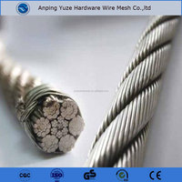 Large Stock 304 304L 316L Stainless Steel Wire Rope with low price.