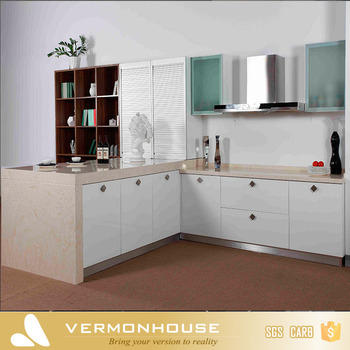 2019 Hangzhou Vermonhouse Bespoke Modulare Weiß Einfache Design Glas Wand  Hängen Küche Schrank Rolltor - Buy Küchenschrank,Küche Hängeschrank ...