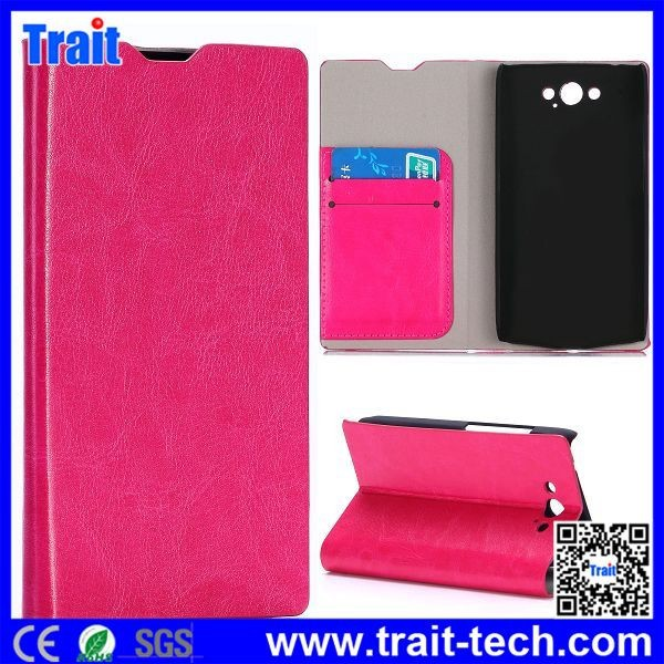 Crystal Grain Wallet Style Side Flip Stand Leather Case with Card Slot for Motorola Moto MAXX XT1225