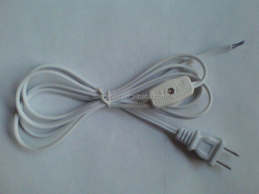 Usa Canada Standard 2 Pin Power Plug Flexible Cord Set With Switch ...