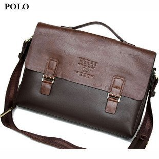 Brand New Polo Brown Leather Briefcase Laptop Bag Gift P9118-1 - Buy ... ed3e1c6e74b77
