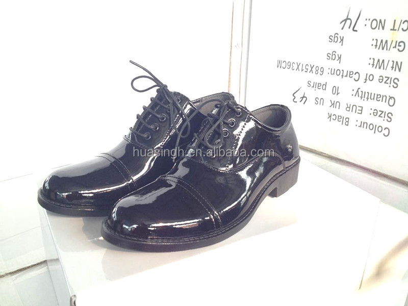 hi-gloss patent leather police shoes parade shoes oxford double joint style 68f1175b029