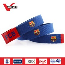Customized printed logo canvas belts