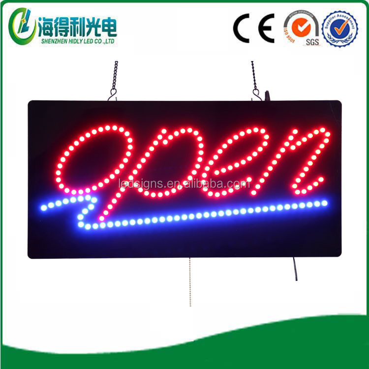 high quality acrylic electronic led moving open display