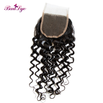 Baulye new wave hair products 4x4 HD transparent lace closure Italian curl wave for women