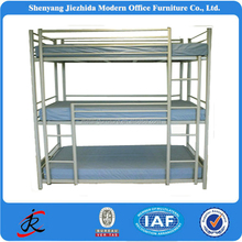 High Quality Hostal Express Design Adult Metal Iron Triple Bunk Bed With Stairs