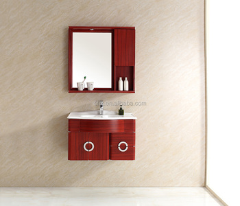 2T-098 2016 new products wooden grain metal bathroom vanity combo