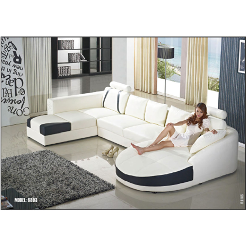 Modern style white color customized size living room leather sofa design,  View leather sofa design, CBMMART Product Details from Cbmmart Limited on  ...
