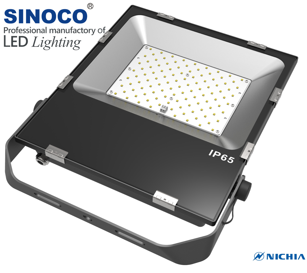 Factory price IP65 waterproof tennis court LED flood light 100w with CE RoHS certificate