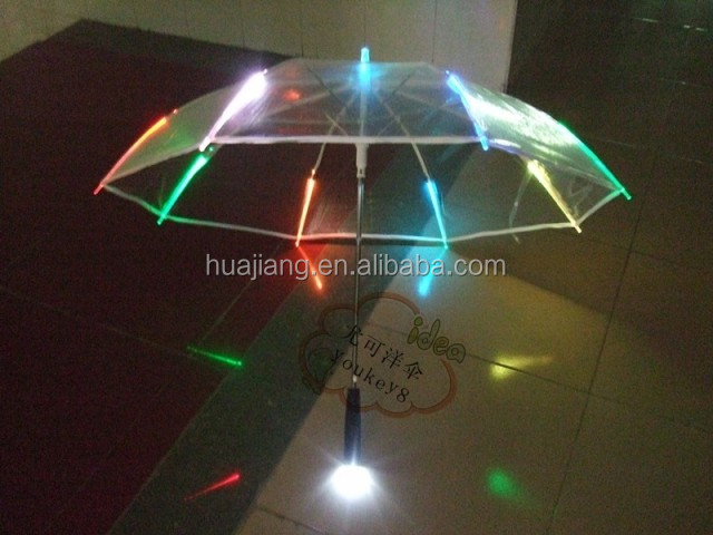 23 inch 8 panels PVC solar led umbrella