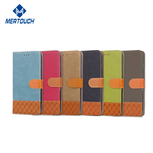 Jean leather wallet case for Moto G5 , classical wallet kickstand phone stand magnetic closure phone case for Moto G5