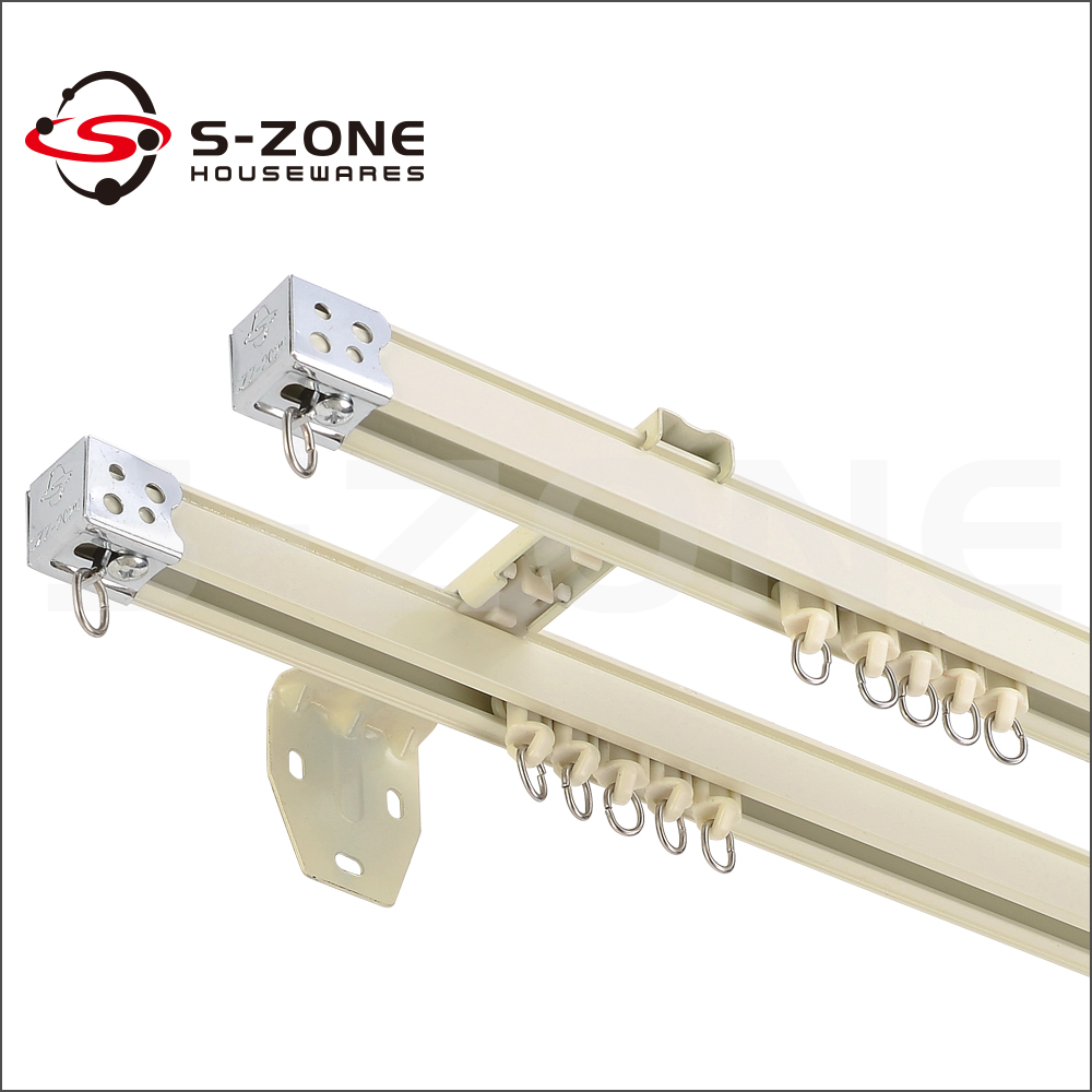 Elegant Plane Metal Window Curtain Rail