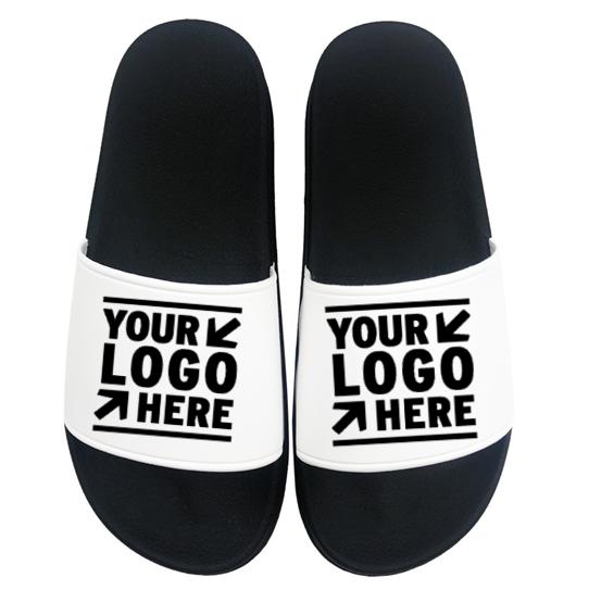 PVC Plain Slide Sandal Black eva Mens Slide Sandal Custom Logo Slide Custom slippers Men woman Slipper, Customized color