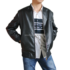 PU jacket for keep warm by heating for man