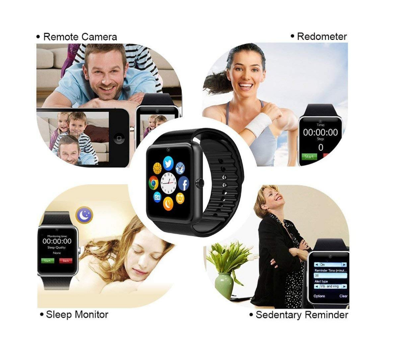 2019 Hot Selling Cheap Support Sim Card Touch Screen GT08 Smart Watch For Kids