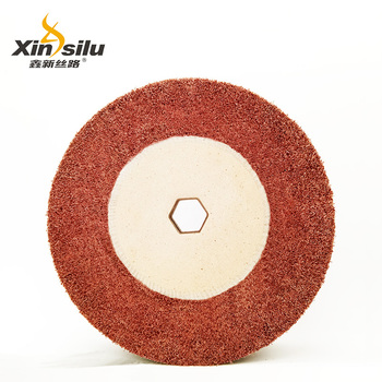 Wire Drawing 7447 Non Woven Grinding Wheel with Hexagonal Hole