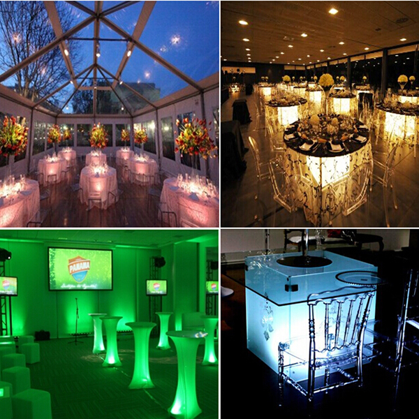 Superb Under The Table Lights #7 - 2W Wireless Battery Operated Under Table Led Light For Wedding, Vase Led  Light Base
