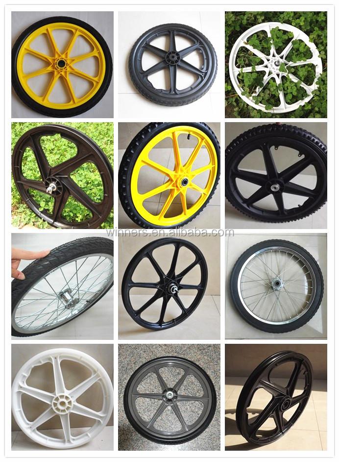 Plastic Wheel Garden Cart Wheel Bike Bicycle Trailer Wheel 20