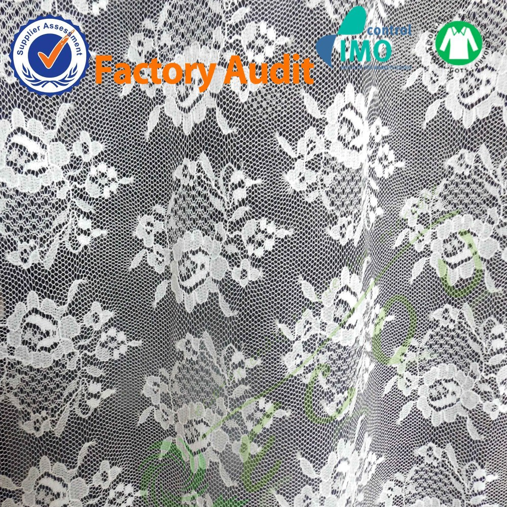 Chemical Cotton Macrame Guipure Lace White