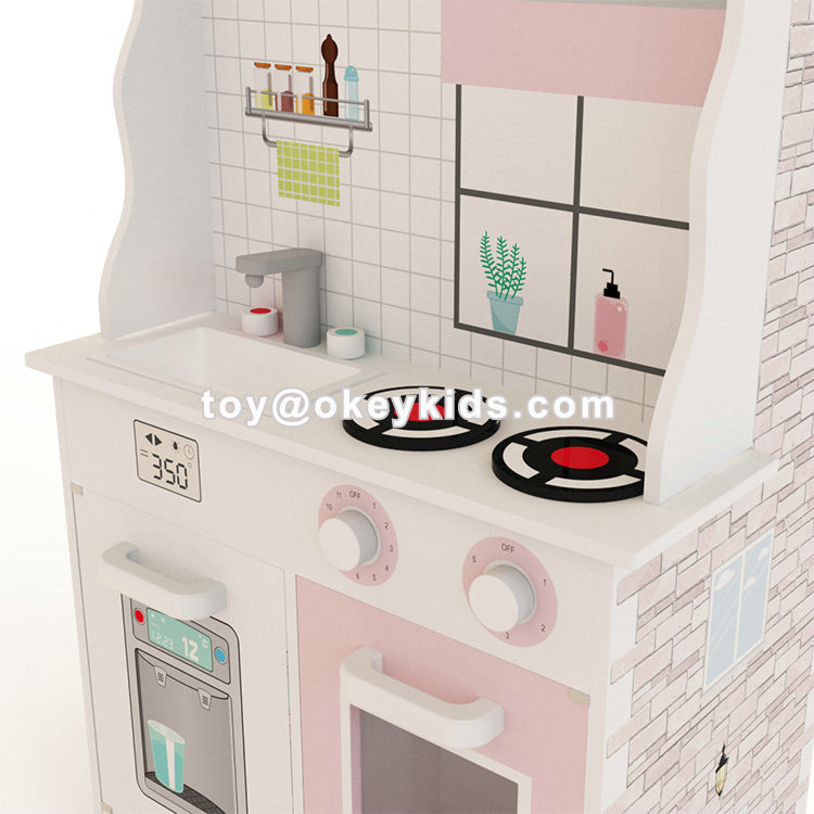 2020 Original Design kids 2 in 1 wooden doll house and kitchen toys for role play W06A371D