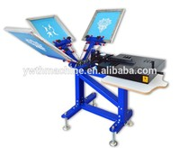 3 Color Screen Printing and Drying 2 In 1 Machine
