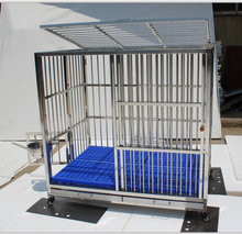 Heavy Duty Rolling Stainless Steel Dog Cage with ABS Tray