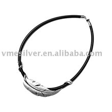 Sterling Silver Leaf Bracelet (BSA-0926)