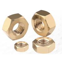 fasteners supplier finish passivated din934 brass hex nut