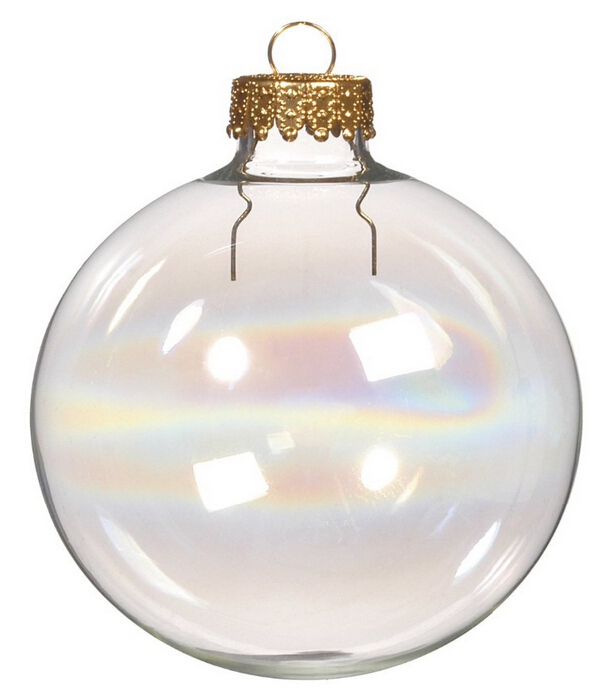 Get Quotations · Free Shipping Wedding Bauble Ornaments Christmas Xmas Tree  Iridescent/Rainbow Glass Balls Decoration 80mm Clear - Cheap Christmas Balls Glass, Find Christmas Balls Glass Deals On