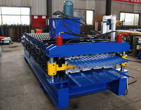Factory price supply double layer roll forming machine used for corrugated ibr panel