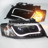 For Audi A6 LED strip head lamp Front lights 1997-2001 year SN