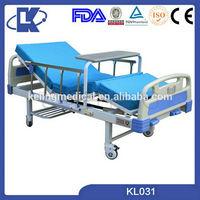 high quality 2 cranks folding hospital bed adjustable care bed 3 crank patient bed