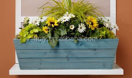 wooden window box planter flower box wood planter box - Window Box Planters