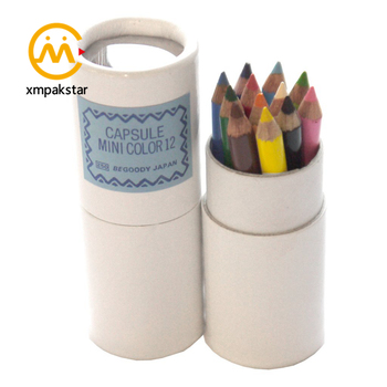 Printing empty cardboard round container box pencil packaging paper tube with window