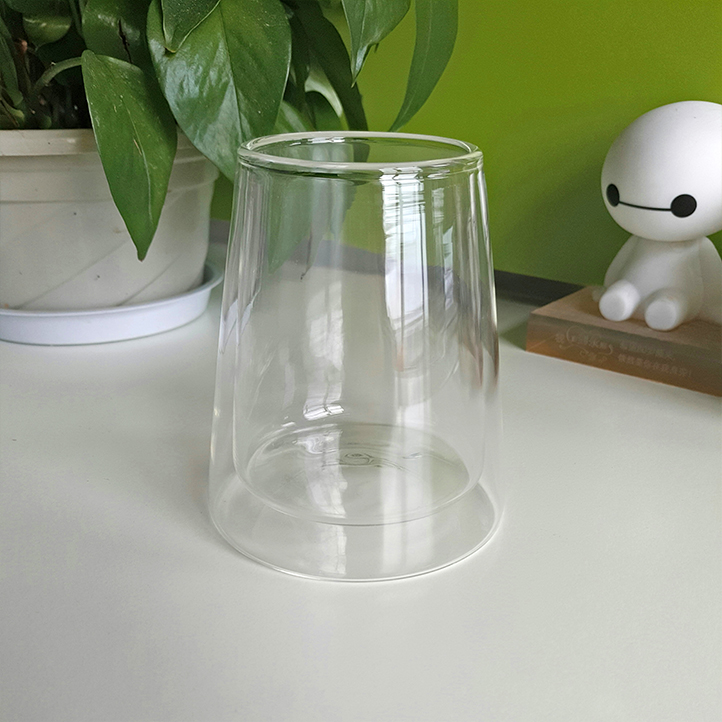 Mouth Blown Double Wall Glass Vase Buy Double Wall Glass Vase