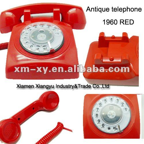 Vintage telephone with Patented rotary dail