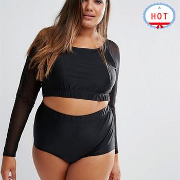 beeb88998f980 Guangzhou OEM Custom Logo Bathing Suits plus size swim suit fat womens  Summer vintage high waist